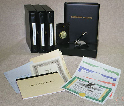 Corporate Minute book kits available online